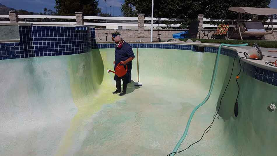 How to Acid Wash - Repair & Paint A Swimming Pool? - Air Tool Resource
